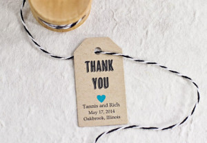 Tag, Wedding Favor, Bridal Shower, Party Favor, Thank You Gift Tag ...