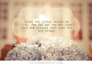 ... may look back and realize they were the big things Picture Quote #1