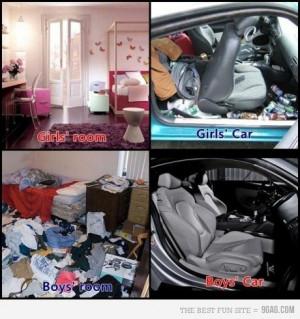 9gag, boy, boys vs girls, car, fun, funny, girl, hahaaa, room, smile ...