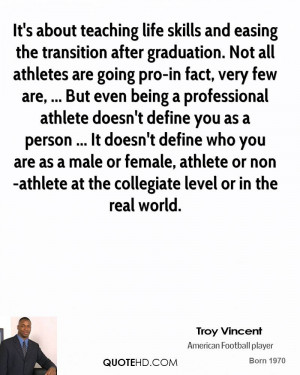 skills and easing the transition after graduation. Not all athletes ...