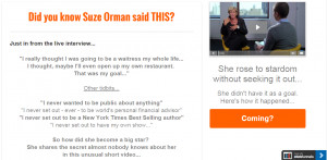 Learning From Suze Orman