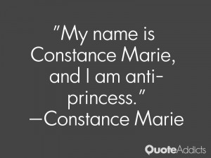 My name is Constance Marie and I am anti princess Wallpaper 1