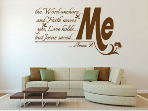 Christian Wall Quotes – Religious Wall Quotes – Religious Decals ...