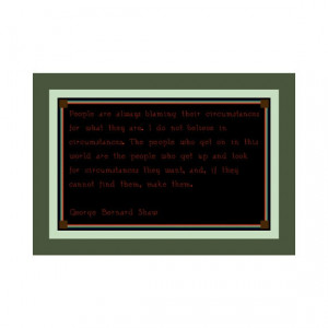 Circumstances Quote George Bernard Shaw Cross by DPeaGreenDesigns, $3 ...