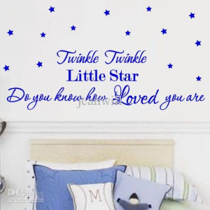 Mandela K Twinkle Twinkle Little Star Wall Quote Nuesry Wall Decal ...