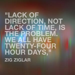 """... , is the problem. We all have twenty-four hour days,"""" Zig Ziglar"""