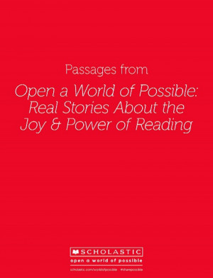 Reading Quotes from Real Stories About the Joy & Power of Reading