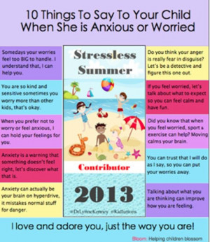 Help your kids deal with anxiety/stress