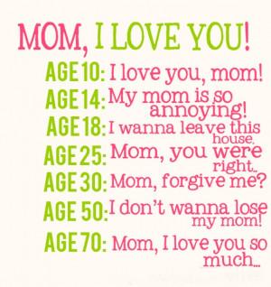 MOM, I love you! I don't wanna lose my mom!