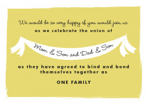 ... this invitation wording for your own blended family wedding invitation