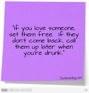 Let's get drunk.