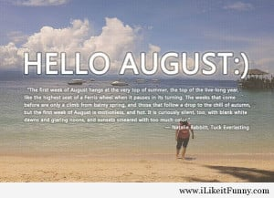 Awesome hello August quotes and facebook covers