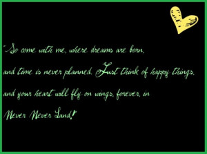Peter Pan Quotes About Neverland