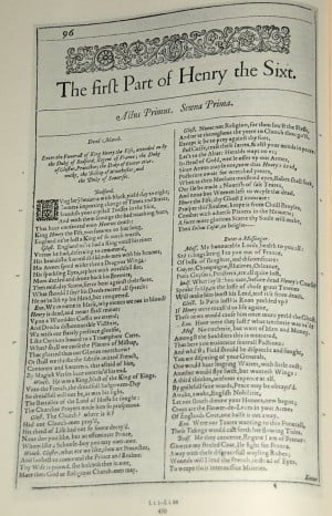 Henry VI – Part I (1591-1592), William Shakespeare.
