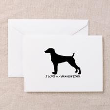 Love My Grand Weimaraner Greeting Cards (Package for
