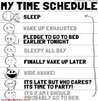 Time Schedule For A Party Animal Funny Cute Comics Picture