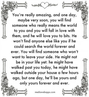 and you will fall in love with them, and he will love you to bits. He ...