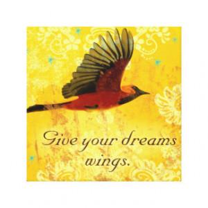 Bird Quotes Canvas Prints