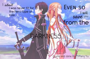 Sword Art Online - fan made quote picture by MikasaTifaVermilion