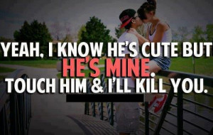 will kill you if u touched him.
