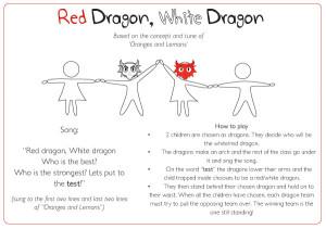 Red Dragon, White Dragon Game Idea   Free EYFS & KS1 Resources