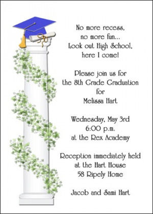 8th Grade School Ivy Grad Announcement Cards Are Becoming Very Popular ...
