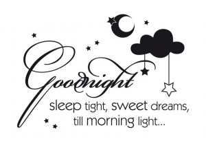 Wall Decal - Goodnight sleep tight