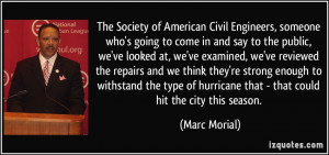 The Society of American Civil Engineers, someone who's going to come ...