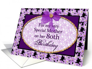 Mother - 80th Birthday card (698203)
