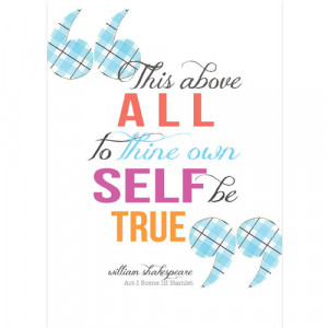 Shakespeare quote greeting card, True