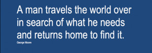 Military Wife Quote: A man leaves home