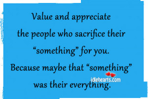 Value And Appreciate The People