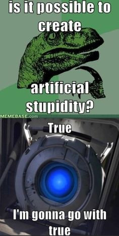 ... artificial stupidity more videos games portal funny wheatley portal