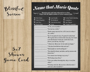 Shower Game / Name that Movie Love Quote / Romantic Movie Quote Game ...