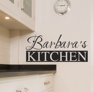 Details about PERSONALISED KITCHEN WALL STICKER ART QUOTES DECALS W54