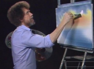 Bob Ross, le peintre de la télévision américaine.