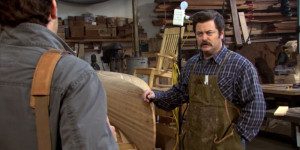 Inside Ron Swanson's wood shop image 8