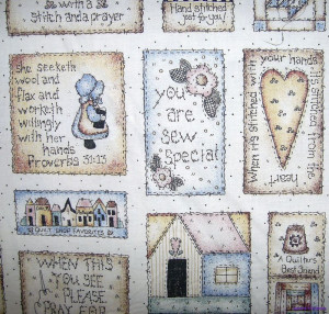 Quilt Fabric With Quotes