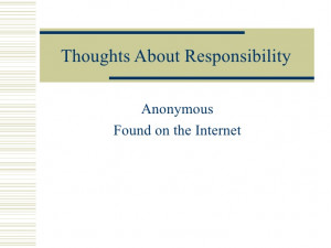 Quotes Personal Responsibility