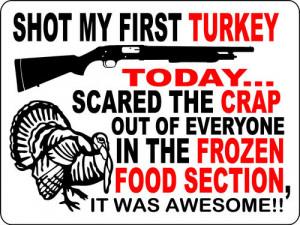 turkey hunting sign