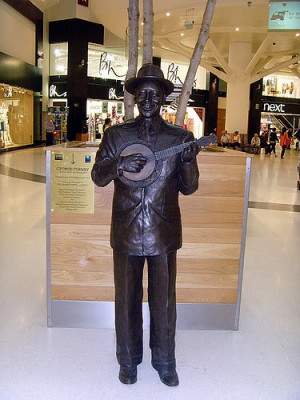 There are at least TWO george Formby Statues. How many Tiny Tims?