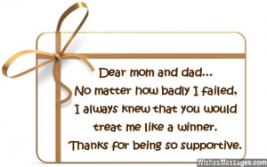 Thank You Notes for Parents: Messages for Mom and Dad