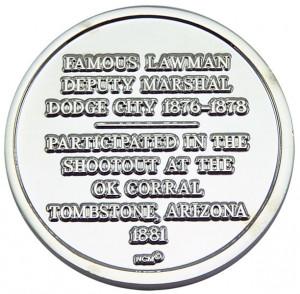 Wyatt Earp Collectible Gunfighter Coin - Silver