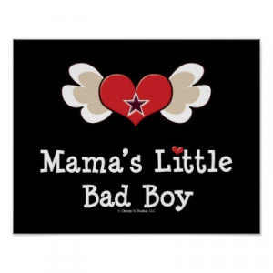 mamas_little_bad_boy_funny_baby_kids_poster ...