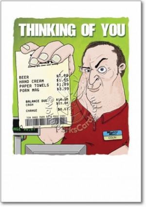 Funny Birthday Old Man Lonely man receipt card