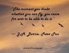 Barrie (Peter Pan) with a quote on fying! Photo: Orange Co, CA ...