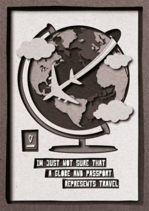 not sure that a globe and passport represents travel.