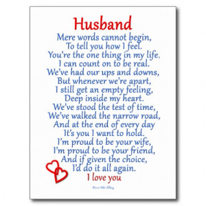 Husband Love Post Cards