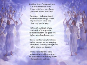 Missing You In Heaven Quotes Mom I miss you mom.