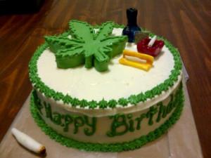 Happy Birthday Marijuana Cake